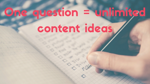 The ONE question you need to ask to find unlimited content creation ideas