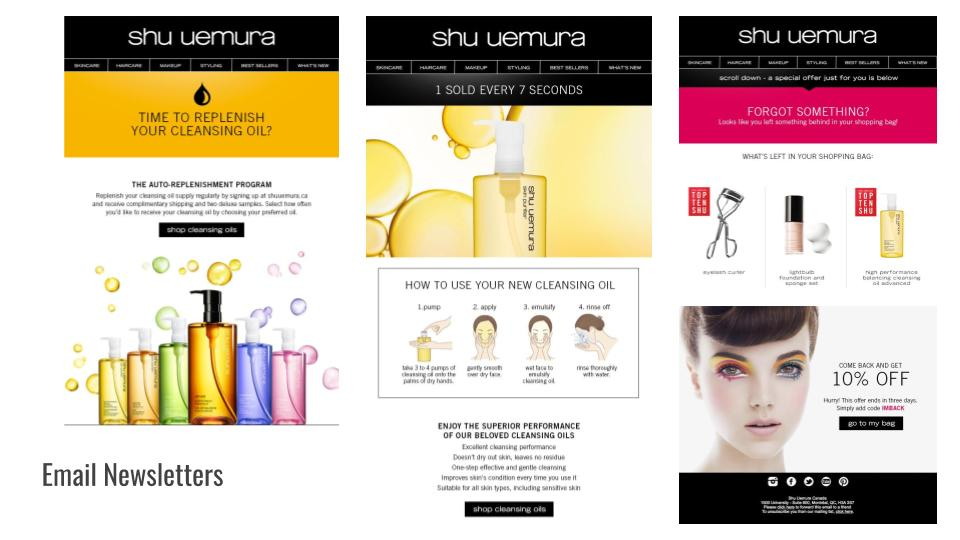 Email newsletter sequence for L'Oréal