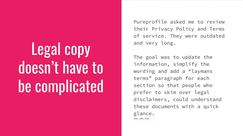 Legal copywriting doesn't have to be complicated