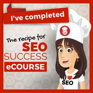 I'm a graduate of the recipe for SEO Success course